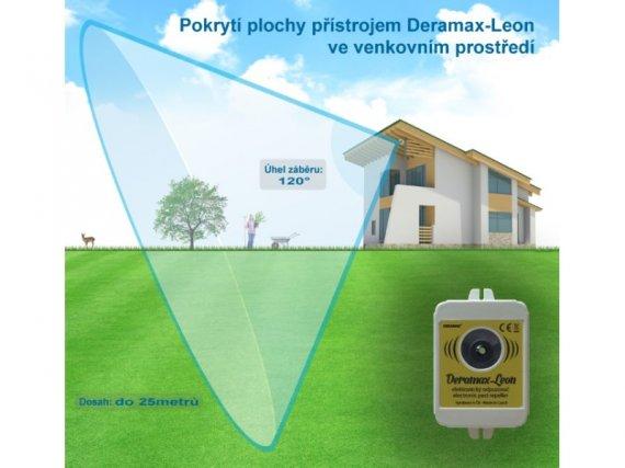 Plašič divoké zvěře - Deramax®-Leon - Ultrazvukový odpuzovač