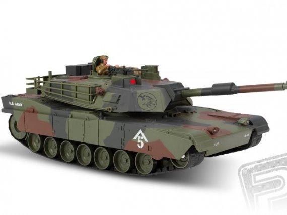 M1A1 Abrams 1:20 RC tank 2,4 Ghz voděodolný podvozek