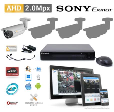 AHD kamerový set PATRONUM - 1 BULLET kamera, 40m IR, 2Mpx