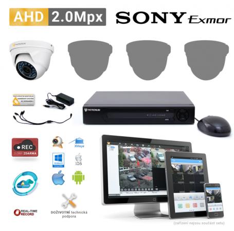 AHD kamerový set PATRONUM - 1 DOME kamera, 20m IR, 2Mpx
