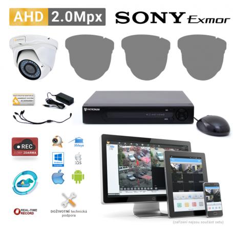 AHD kamerový set PATRONUM - 1 DOME kamera, 40m IR, 2Mpx