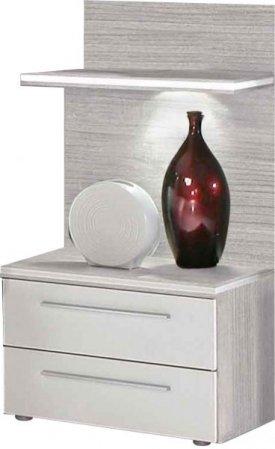Noční stolek akát/bílý EMPORIO