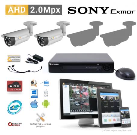 AHD kamerový set PATRONUM - 2 BULLET kamery, 40m IR, 2Mpx