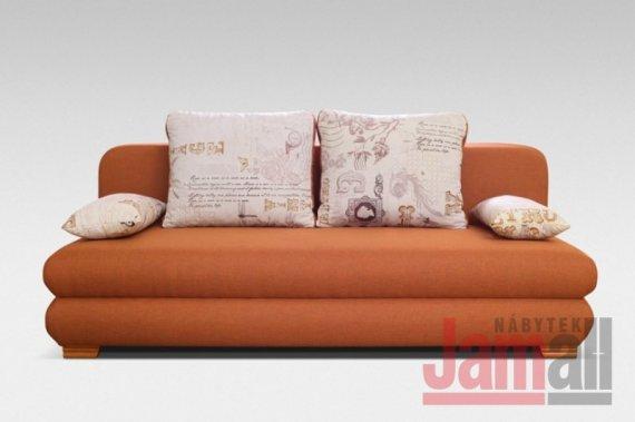 Pohovka rozkládací s úložným prostorem oranžová FANTOM
