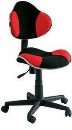 Židle kancelářská dětská černá/červená Q-G2