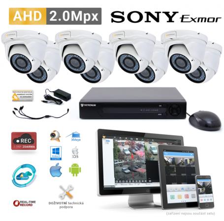 AHD kamerový set PATRONUM - 8 DOME kamer, 40m IR, 2Mpx