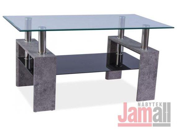 Konferenční stolek rozkládací bílý/šedý TRISTA