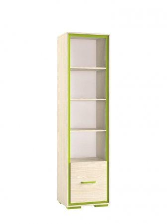 Regál dětský zelený BONTI 05