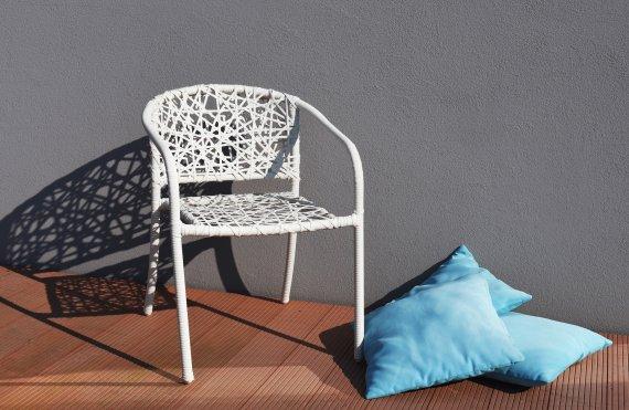 NEST zahradní židle - bílá