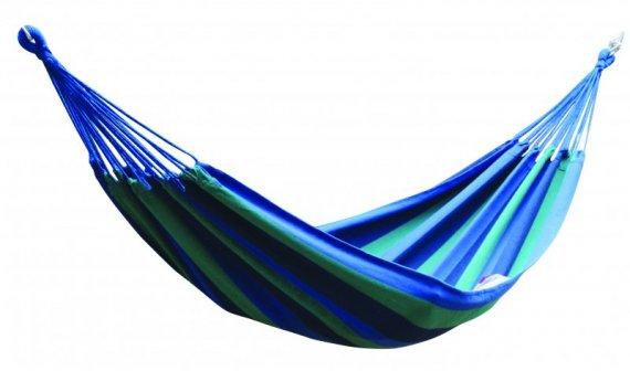 Látková houpací síť - modrá s pruhy