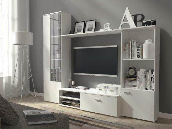 Obývací stěna bílá HOLIDAY