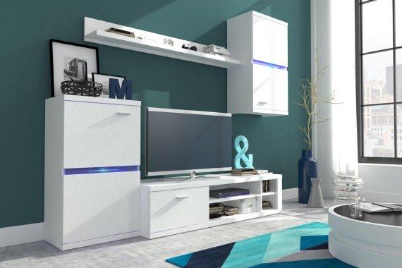 Obývací stěna bílá LENTI