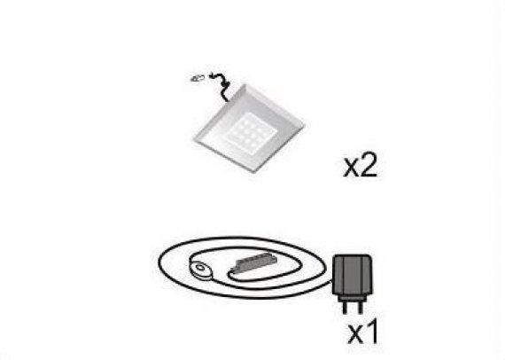 Osvětlení LED vitrín bodové 31 BW QS 02 - bílé