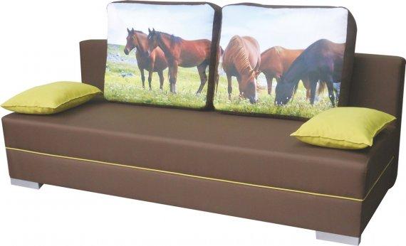 Pohovka rozkládací s úložným prostorem Koně SOŇA