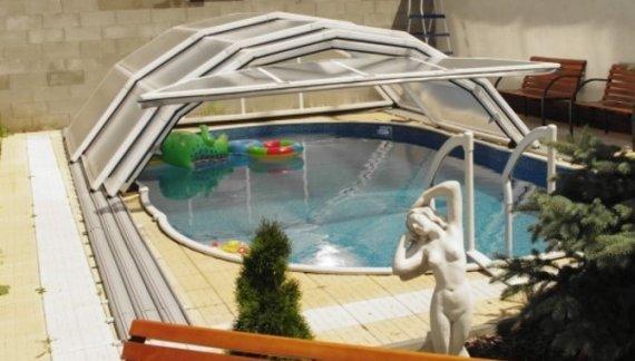 Zastřešení bazénu LIMPOOL 4,4x4,6 m