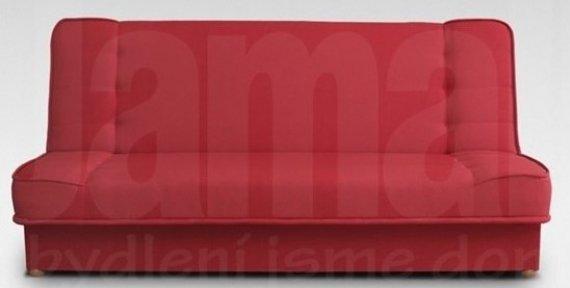 Pohovka rozkládací s úložným prostorem červená NEXT