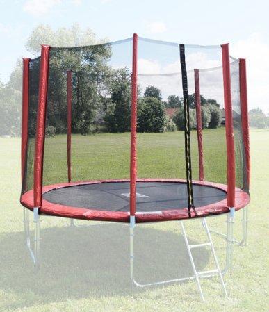 Ochranná síť na trampolínu 305 cm, červená
