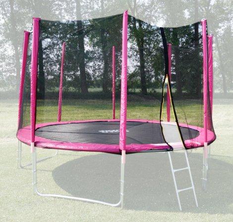 Ochranná síť na trampolínu 305 cm - PVC - na 8 trubek- růžová