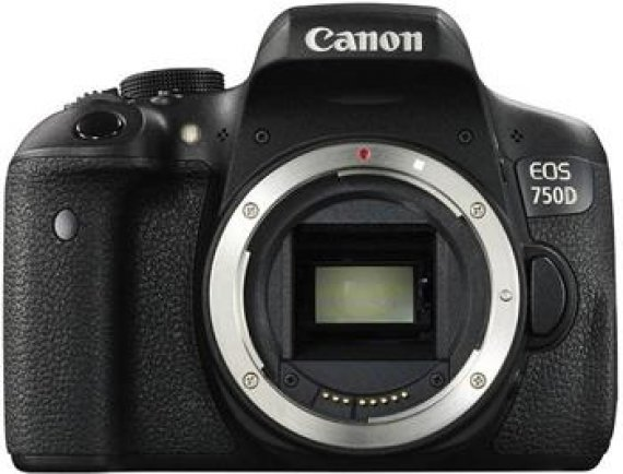 Canon EOS 750D Black body - 24 MP