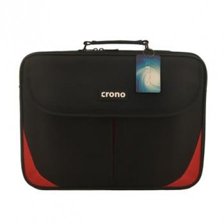"Crono Trend - taška na notebook 15,6"", černá + červená"