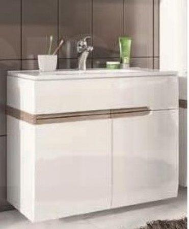 Skříňka pod umyvadlo koupelnová bílá LINATE