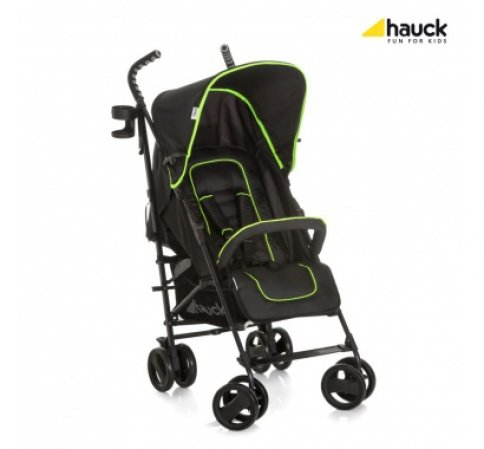 Hauck Speed Plus S 2018 caviar/neon yellow