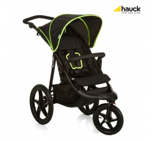 Hauck Runner 2018 kočárek black neon yellow