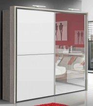 Skříň s posuvnými dveřmi akát/bílá EMPORIO