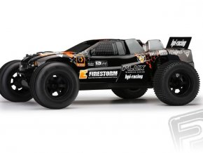 E-FIRESTORM 10T Flux RTR s 2,4GHz RC soupravou, kar DSX-2 + speed pack