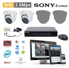 AHD kamerový set PATRONUM - 2 DOME kamery, 40m IR, 2Mpx