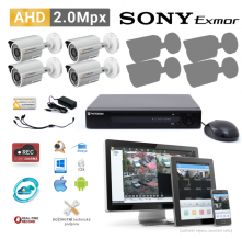 AHD kamerový set PATRONUM - 4 BULLET kamery, 20m IR, 2Mpx PLUS