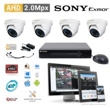 AHD kamerový set PATRONUM - 4 DOME kamery, 20m IR, 2Mpx