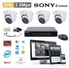 AHD kamerový set PATRONUM - 4 DOME kamery, 40m IR, 2Mpx
