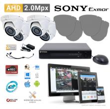 AHD kamerový set PATRONUM - 4 DOME kamery, 40m IR, 2Mpx PLUS