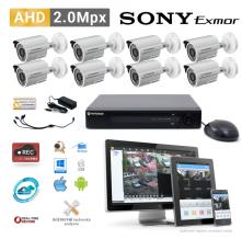AHD kamerový set PATRONUM - 8 BULLET kamer, 20m IR, 2Mpx