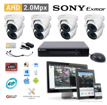AHD kamerový set PATRONUM - 8 DOME kamer, 20m IR, 2Mpx