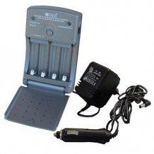 Solight DN30 Multifunkční nabíječka, AC 230V/DC 12V, 600mA, 4 kanály, AA/AAA